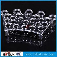 Quality Factory directly acrylic shot glass tray,most popular product clear acrylic shot for sale