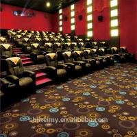 China Cheap dark brown polypropylene printed carpet for cinema for sale