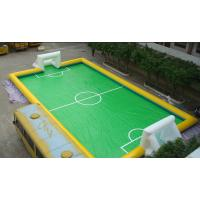 Wholesale 11 Person PVC Inflatable Football Field , Football Game Inflatable Field for Outdoor Sport from china suppliers