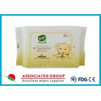 Resealable Soft Non - Allergic Nonwoven Spunlace Wet Wipes Baby 25 Sheets
