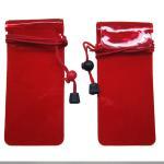 China Waterproof Plastic PVC Phone Bag Silk - Screen Printing With Rope / Zip Lock for sale