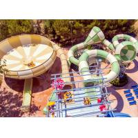 Buy cheap Fiberglass Space Bowl Water Slide / Outdoor Swimming Pool Slide For Hotel Resort from wholesalers