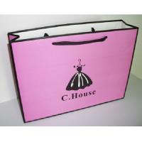 Art Paper Shopping Carrier Bags For Clothing / Shoes , Paper Merchandise Bags for sale
