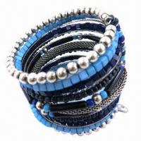 Wholesale Fashionable Bangles with Beads, Acrylic Stones, Customized Packing Types are Accepted from china suppliers