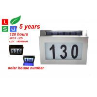 Wholesale Wall Mounted Solar Powered Signs 5050 SMD LED Solar House Number Light from china suppliers