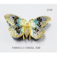 China Custom metal butterfly shaped jewelry box for promotional gift on sale