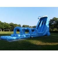 Wholesale Double Blue Backyard Inflatable Water Slides , Long Slip N Slide Water Slides from china suppliers