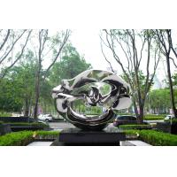 China Mirror Finish Outdoor Contemporary Metal Sculpture For Square Decoration for sale
