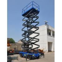China Manual Pushing Mobile Scissor Lift 14 Meters Aerial Work Platform for sale