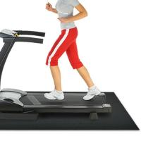 Folding Black Treadmill Floor Mat With Shockproof