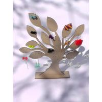 Wholesale Tree Jewelry Earring Holder Wooden Display Stand Laser 3mm MDF from china suppliers