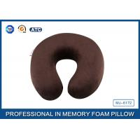 Quality Brown Children Memory Foam Evolution Travel Pillow For Head and Neck Rest for sale