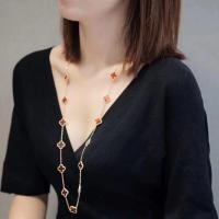 Wholesale 18K Yellow Gold Van Cleef Alhambra Long Necklace from china suppliers