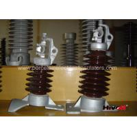 Wholesale 15kV - 25KV Brown Color Line Post Insulator With Clamp Top And Long Bolt from china suppliers