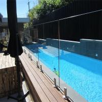 Wholesale Glass Pool Fence with Certificates / Baby Pool Fence Glass Railing Outdoor Frameless Railing from china suppliers