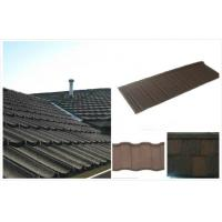 Wholesale Ocean Blue Commercial Stone Coated Steel Roofing Tiles Wear Resistant from china suppliers
