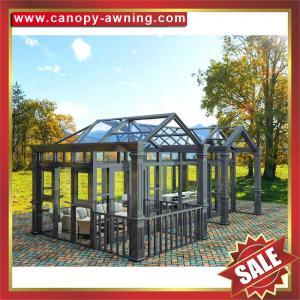 Buy cheap Prefabricated outdoor garden aluminum metal alu glass sun house,sunroom from wholesalers