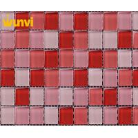 Wholesale Acid - Resistant Red And Pink Glitter Glass Mosaic Tiles For Swimming Pool from china suppliers