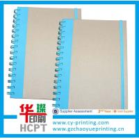 Custom spiral paper notebook with elastic bound