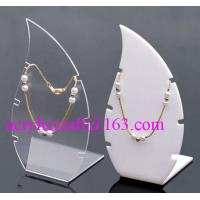 High Polished Acrylic Necklace Display Stand / Acrylic Necklace Display Rack for sale