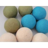 Wholesale custom pacakging 3inch laundry use wool dryer balls bacteria killer wool felt ball for baby clothes from china suppliers