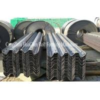 Buy cheap PLC Guard Rail Roll Forming Machine With GCR15 Bearing Steel For Highways from wholesalers