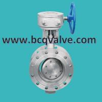 Quality TRIPLE OFFSET FLANGED Butterfly valve with electric actuator connection plate for sale