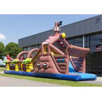 Quality Digital Printing Inflatable Obstacle Course , Floating Obstacle Course With CE for sale