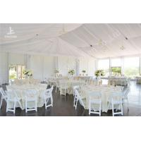 Wholesale White Water Repellent PVC Fabric Cover Aluminum Frame Wedding Party Tent from china suppliers