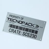 Quality Stainless Steel Vintage Metal Plates Custom Etched QR Code Label for sale