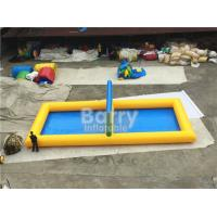 Wholesale Large Family Inflatable Sports Court , Strength PVC Inflatable Vollyball Field For Water Game from china suppliers