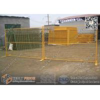 "Wholesale 6x9.5ft Temporary  Fencing panels with Yellow Powder Coated | 1"" square pipe frame from china suppliers"