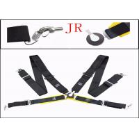Wholesale Auto Parts Car Safety Seat Belts , Flexibility Fabric Black Retractable Seat Belts from china suppliers