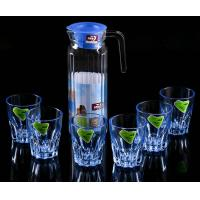 Wholesale High Borosilicate Glass Water Pot , Glass Juice Pitcher With Lid 1100 ML from china suppliers
