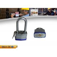 China Long shackle Safety Lockout Padlocks High Strength Steel Laminated on sale