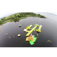 Wholesale Awesome Super Large Bay Inflatable Water Park , Yellow Water Sports For Ocean from china suppliers