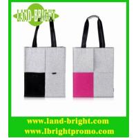China Grey and Pink Woolen Felt Tote Bag for Women on sale
