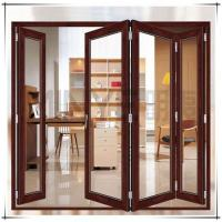 Wholesale Soundproof Exterior Commercial Aluminium Doors Bifold Double Glass Powder Coated Surface from china suppliers