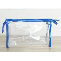 Wholesale Transparent PVC Cosmetic Bag with Zipper closure , Clear Vinyl Make-Up Pouches from china suppliers