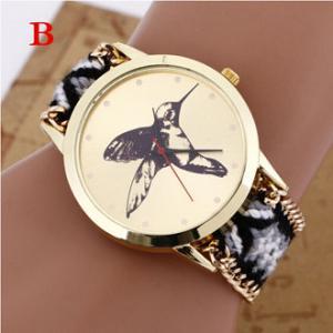 Buy cheap Brand Handmade Braided Kingfisher Friendship Bracelet Watch Rope Geneva Watch Quartz Wristwatch Ladies relogio from wholesalers