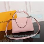 China Young Girl Top Clone LV handbag Pink Genuine Leather ladies bag Soft Shoulder Bag for sale