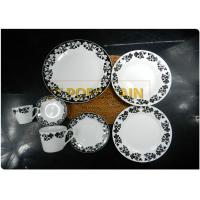 100 % Food Safe Round Coupe Plate For Home Elegant Decal Design for sale