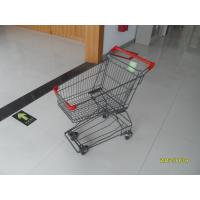 Wholesale 45L Wire Shopping Cart For Small Market , 4 Wheel Metal Shopping Trolley from china suppliers
