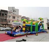 Wholesale Outdoor Commercial Jungle Shark Inflatable Obstacle Course For Kids And Adults Fun from china suppliers