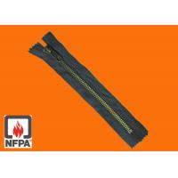Wholesale FR zipper, NFPA standards,  aramid tape, metal tooth 5 - 10, durable and smooth use from china suppliers