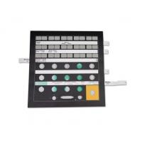 Wholesale 0.125mm / 0.188mm PET Membrane Switch With Gold Plated Metal Dome from china suppliers
