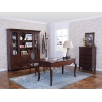 Wholesale Rubber Wood Home office room furniture bookcase set by Glass door with Shelves and Study desk Computer table from china suppliers