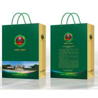 Wholesale flat handle kraft paper bag, cheap brown paper bags with handles, Cheap prices Discount Shopping Bags with logo print from china suppliers
