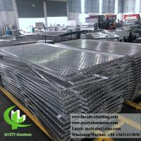 Wholesale 3mm Folded Aluminum Perforated Metal Sheet , Perforated Aluminum Screen from china suppliers