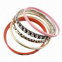 Wholesale Fashion Metal Bracelet with Epoxy-coated or Lacquer-decorated from china suppliers